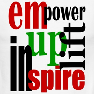 White/black Empower, Uplift, Inspire - Red, Blk, Grn--Digital Direct T-Shirts - Men's Ringer T-Shirt