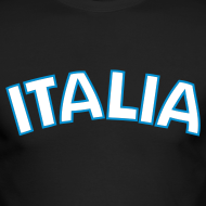Design ~ ITALIA logo AA Long Sleeve T, Black