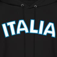Design ~ ITALIA logo Hoodie, Black