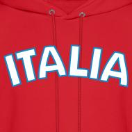 Design ~ ITALIA logo Hoodie, Red