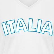 Design ~ ITALIA Women's V-Neck T, White