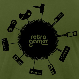 Olive retrogamer T-Shirts - Men's T-Shirt by American Apparel