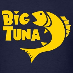 Navy Funny Big Tuna graphic T-Shirts