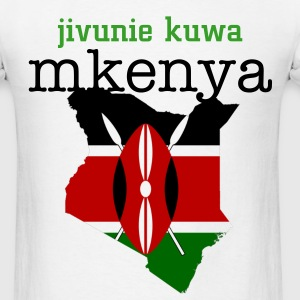 White kenya shield and flag T-Shirts - Men's T-Shirt