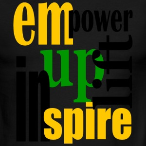 Red/white Empower, Uplift, Inspire - Yellow, Blk, Grn--Digital Direct T-Shirts - Men's Ringer T-Shirt