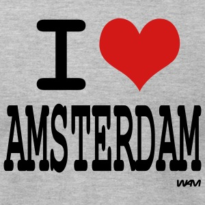 Heather grey i love amsterdam by wam T-Shirts - Men's T-Shirt by American Apparel