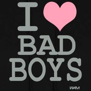 Black i love bad boys by wam Hooded Sweatshirts - Women's Hoodie