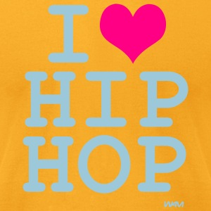 Gold i love hip hop by wam T-Shirts - Men's T-Shirt by American Apparel