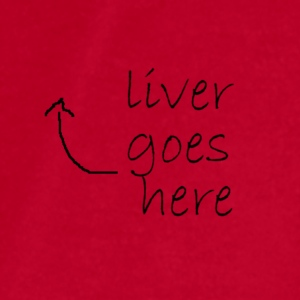 Liver goes here T-Shirts - Men's T-Shirt by American Apparel