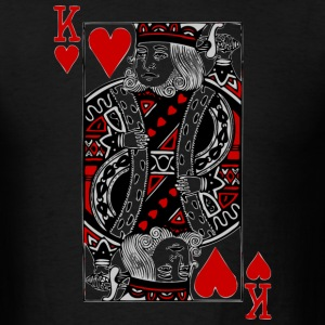 Black king of hearts T-Shirts - Men's T-Shirt