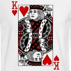 White king of hearts Long sleeve shirts - Men's Long Sleeve T-Shirt