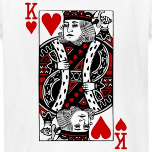 White king of hearts Kids Shirts - Kids' T-Shirt