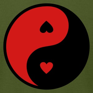 Olive yin_yang_heart T-Shirts - Men's T-Shirt by American Apparel