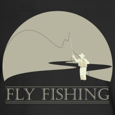 Black Fly fisherman 2 Fly Fishing shirt design Long sleeve shirts