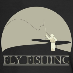 Black Fly fisherman 2 Fly Fishing shirt design Long sleeve shirts - Men's Long Sleeve T-Shirt