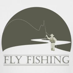 White fly fisherman 1 fly fishing design Long sleeve shirts