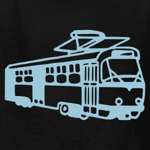 Black Tram - Train - Railway Kids Shirts - Kids' T-Shirt