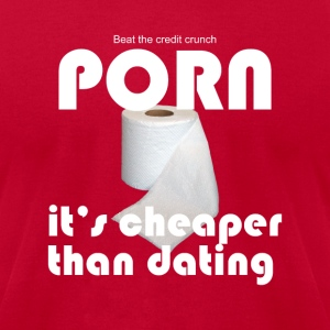 Credit Crunch PORN T - Men's T-Shirt by American Apparel