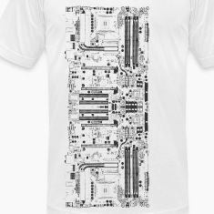 White Computer motherboard Design T-Shirts