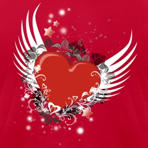 Heart & Wings Design - Men's T-Shirt by American Apparel