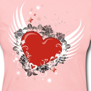 Heart & Wings Design - Women's Long Sleeve Jersey T-Shirt