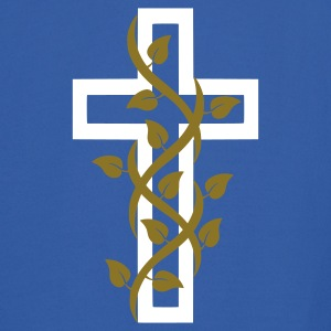Royal blue Cross Cruz with Leaves Hoodies - Men's Hoodie