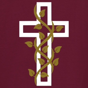 Burgundy Cross Cruz with Leaves Hoodies - Men's Hoodie