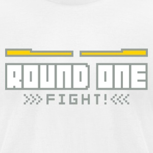 White Round1: Fight! T-Shirts - Men's T-Shirt by American Apparel