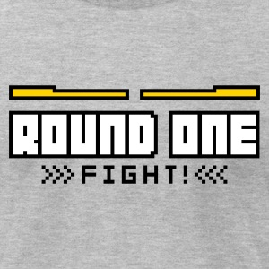 Heather grey Round1: Fight! T-Shirts - Men's T-Shirt by American Apparel