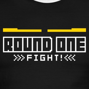 Red/white Round1: Fight! T-Shirts - Men's Ringer T-Shirt