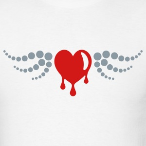 Bleeding Heart - Wings - T Shirt - Mens - Men's T-Shirt