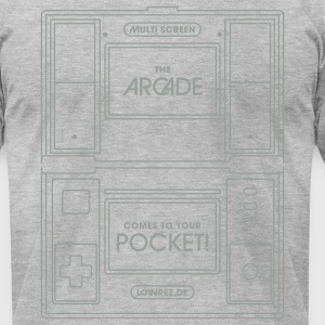 Heather grey Doublescreen (part2) T-Shirts - Men's T-Shirt by American Apparel