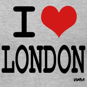 Heather grey i love london by wam T-Shirts - Men's T-Shirt by American Apparel