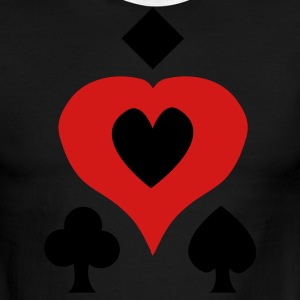 Sky/navy Playing Card Shapes T-Shirts - Men's Ringer T-Shirt