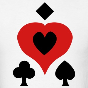 White Playing Card Shapes T-Shirts - Men's T-Shirt
