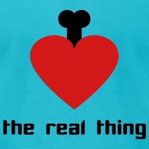 Turquoise the real thing - love T-Shirts - Men's T-Shirt by American Apparel
