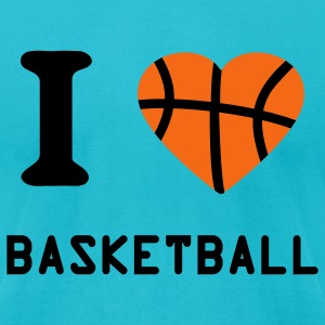 Turquoise Basketball T-Shirts - Men's T-Shirt by American Apparel