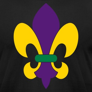 Mardi Gras Fleur-de-lis - Men's T-Shirt by American Apparel