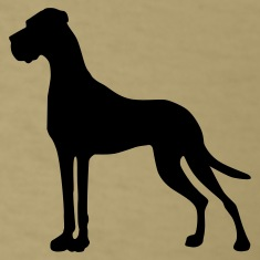 Khaki Great Dane pure T-Shirts