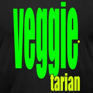 Black Veggietarian T-Shirts - Men's T-Shirt by American Apparel