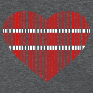 Deep heather barcode love 2c Women's T-shirts - Women's T-Shirt