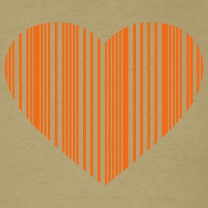 Khaki barcode love T-Shirts - Men's T-Shirt