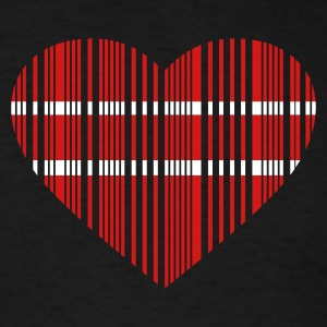 Black barcode love 2c T-Shirts - Men's T-Shirt