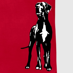 Red My Dane Dino T-Shirts - Men's T-Shirt by American Apparel