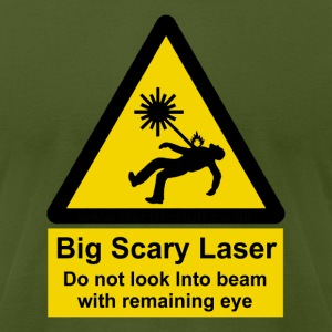 Big Scary Laser T - Men's T-Shirt by American Apparel