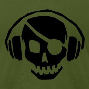 PIRATE MUSIC T - Men's T-Shirt by American Apparel