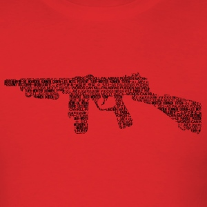 words can kill_tommy gun - Men's T-Shirt