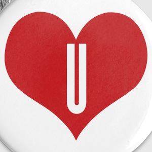 White love u by wam Buttons - Small Buttons