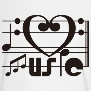 I LOVE MUSIC - Men's Long Sleeve T-Shirt