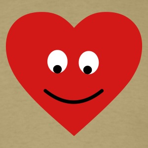Khaki heart head T-Shirts - Men's T-Shirt